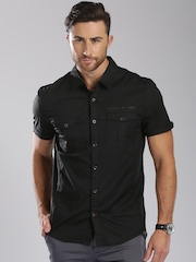 GUESS Black Diego Slim Fit Casual Shirt
