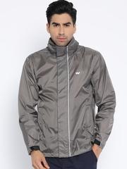 Wildcraft Grey Hooded Rain Jacket