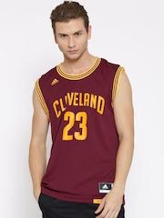 Adidas Maroon INT Replica Printed NBA Jersey