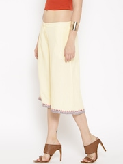 People Cream-Coloured Culotte Trousers