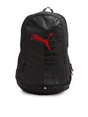 PUMA Unisex Black Graphic Backpack