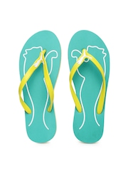 PUMA Women Yellow & Blue Lucie 4 Flip-Flops
