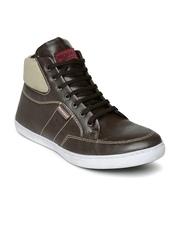 Provogue Men Coffee Brown & Khaki Coloublocked Sneakers
