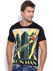IRON MAN By KNK Black Iron Man Print T-shirt