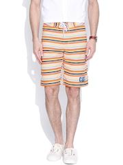 CAT Multicoloured Striped Shorts