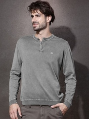 Roadster Grey Henley Sweater