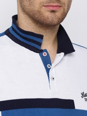 HARVARD Blue & White Supersoft Polo T-shirt