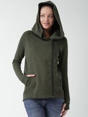 Nike Olive Green Hooded Jacket