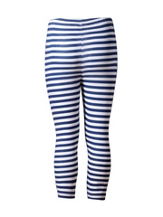 naughty ninos Girls Navy & White Striped Leggings