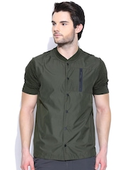 Nike Olive Green AS Bonded Jersey-Style Shirt