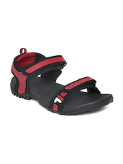 FILA Men Black & Red Liberty Sports Sandals