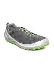 Woodland ProPlanet Men Grey Perforated Leather Casual Shoes