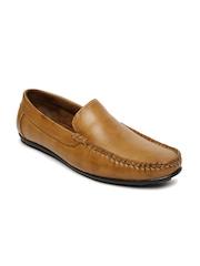 San Frissco Giorgio Men Tan Brown Leather Loafers