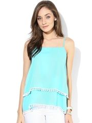 Popnetic Blue Layered Top