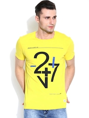 United Colors of Benetton Yellow Printed T-shirt