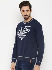 HARVARD Men Blue Printed Sweatshirt