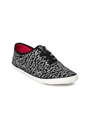 Boltio Women Black & White Printed Casual Shoes