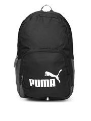 PUMA Unisex Black & Grey Phase Backpack