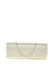 D Muse by Dressberry Muted Gold-Toned Clutch