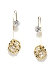 DressBerry Gold-Toned Double-Sided Drop Earrings