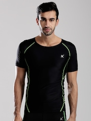 HRX by Hrithik Roshan Black Active Compression T-shirt