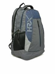 HRX by Hrithik Roshan Men Grey & Navy Backpack
