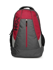 HRX by Hrithik Roshan Men Grey & Red Backpack
