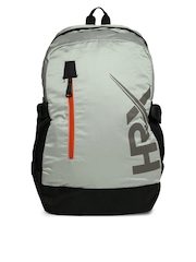 HRX by Hrithik Roshan Men Grey & Black Backpack
