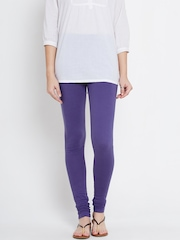 AURELIA Purple Churidar Leggings
