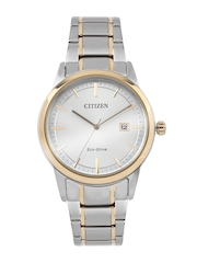Citizen Men Eco-Drive Silver-Toned Dial Watch AW1238-59A