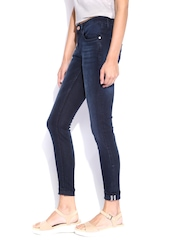 Mast & Harbour Navy Skinny Fit Jeans
