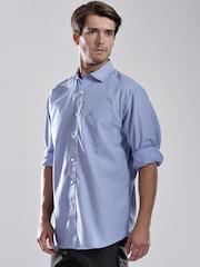 Nautica Blue Striped Casual Shirt