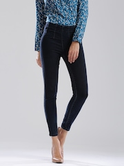 DressBerry Dark Blue High-Rise Skinny Fit Jeans