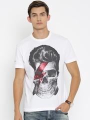 Ed Hardy White Printed T-shirt