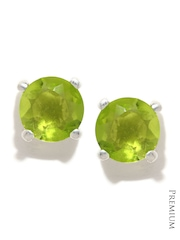 Mast & Harbour Green Stone-Studded Stud Earrings