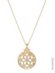 DressBerry 22K Gold-Plated Circular Pendant with Chain