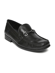 Hush Puppies by Bata Men Black Leather Cayden Circuit Loafers