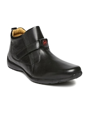 Red Chief Men Black Leather Boots