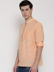 Svanik Orange Pathani Short Kurta