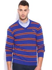 PUMA Blue Striped Sweater