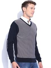 Harvard Navy Striped Sweater