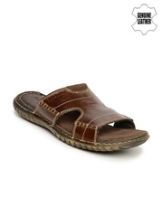 Red Tape Men Genuine Leather Brown Sandals