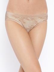 Amante Women Beige Lace Bikini Briefs PAN24001