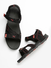 Puma Men Black Techno III DP Sports Sandals