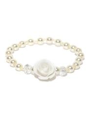 DressBerry White Beaded Bracelet