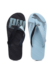 PUMA Unisex Blue Miami Fashion Printed Flip-Flops
