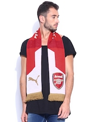 PUMA Unisex Red & White Arsenal Fan Scarf
