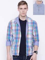 Lee Blue Checked Reversible Jacket