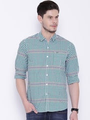 Lee Green & White Checked Casual Shirt