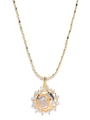 Sukkhi Unisex Gold-Plated Pendant with Chain